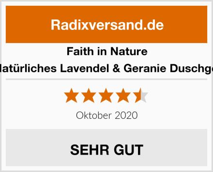 Faith in Nature Natürliches Lavendel & Geranie Duschgel Test