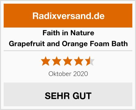 Faith in Nature Grapefruit and Orange Foam Bath Test