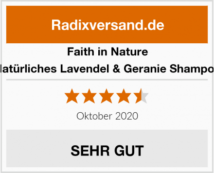 Faith in Nature Natürliches Lavendel & Geranie Shampoo Test