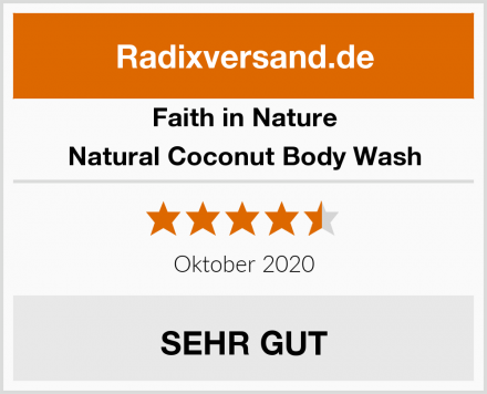 Faith in Nature Natural Coconut Body Wash Test