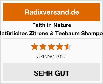 Faith in Nature Natürliches Zitrone & Teebaum Shampoo Test