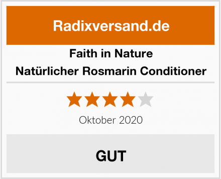 Faith in Nature Natürlicher Rosmarin Conditioner Test
