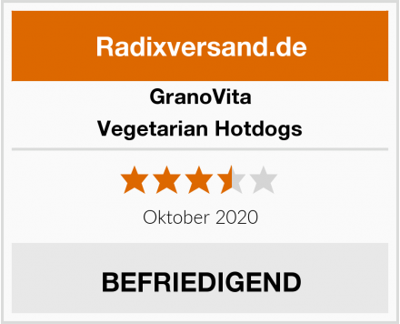 GranoVita Vegetarian Hotdogs Test