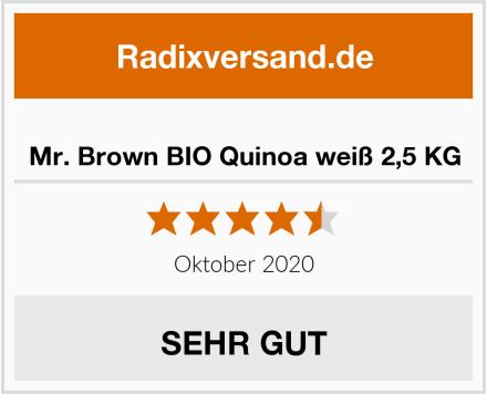 Mr. Brown BIO Quinoa weiß 2,5 KG Test