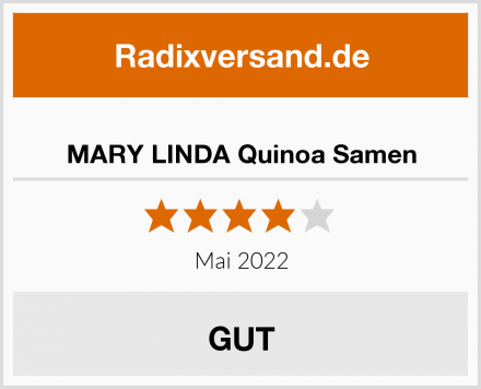 MARY LINDA Quinoa Samen Test