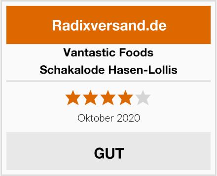 Vantastic Foods Schakalode Hasen-Lollis Test