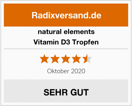 natural elements Vitamin D3 Tropfen Test