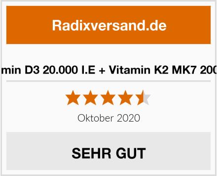 Luondu Vitamin D3 20.000 I.E + Vitamin K2 MK7 200 mcg Depot Test