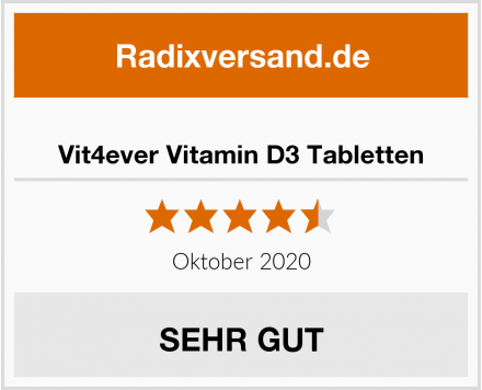 Vit4ever Vitamin D3 Tabletten Test