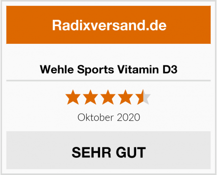 Wehle Sports Vitamin D3 Test