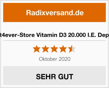 Vit4ever-Store Vitamin D3 20.000 I.E. Depot Test