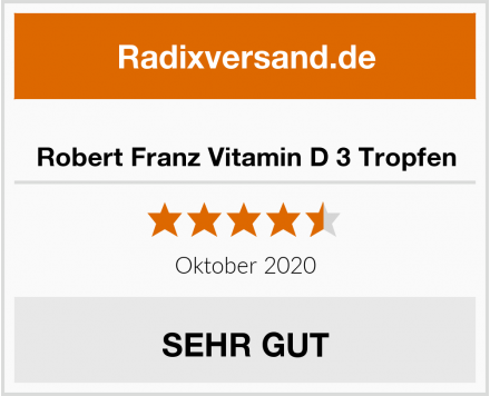 Robert Franz Vitamin D 3 Tropfen Test