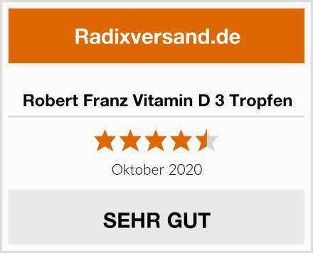 Robert Franz Vitamin D 3 Tropfen Test