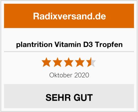 plantrition Vitamin D3 Tropfen Test