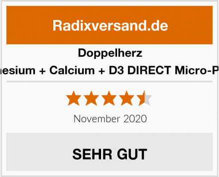 Doppelherz Magnesium + Calcium + D3 DIRECT Micro-Pellets Test