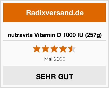 nutravita Vitamin D 1000 IU (25?g) Test
