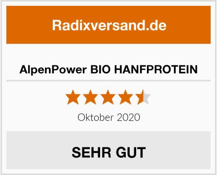 AlpenPower BIO HANFPROTEIN Test