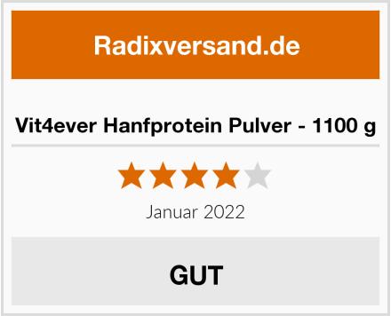Vit4ever Hanfprotein Pulver - 1100 g Test