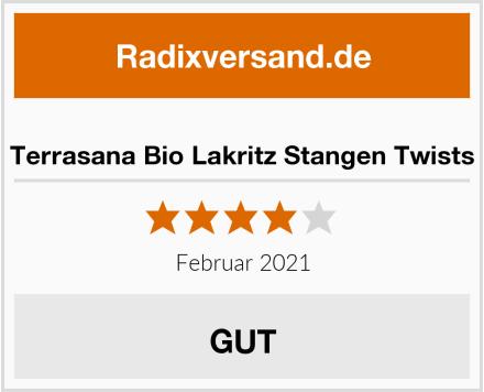 Terrasana Bio Lakritz Stangen Twists Test