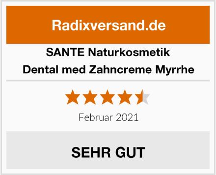 SANTE Naturkosmetik Dental med Zahncreme Myrrhe Test