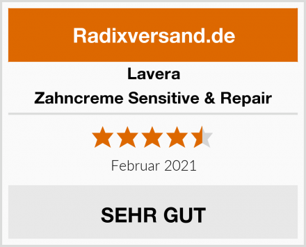 Lavera Zahncreme Sensitive & Repair Test