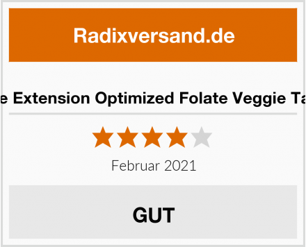 Life Extension Optimized Folate Veggie Tabs Test