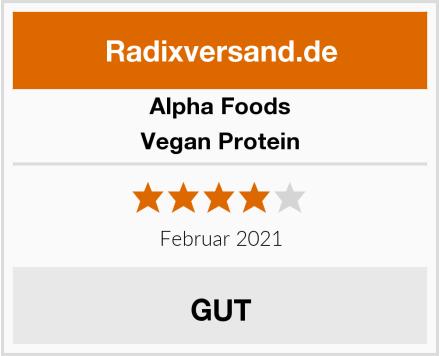 Alpha Foods Vegan Protein Test
