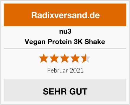 nu3 Vegan Protein 3K Shake Test