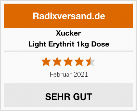 Xucker Light Erythrit 1kg Dose Test