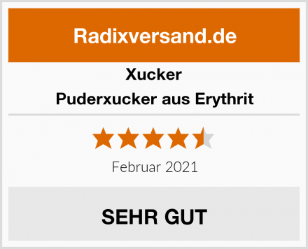 Xucker Puderxucker aus Erythrit Test
