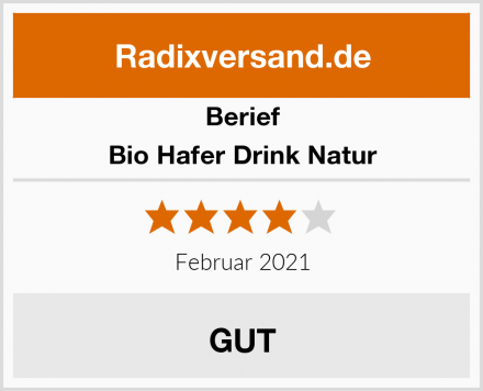 Berief Bio Hafer Drink Natur Test