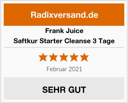 Frank Juice Saftkur Starter Cleanse 3 Tage Test
