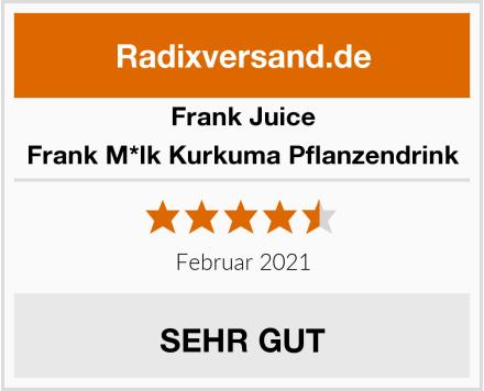 Frank Juice Frank M*lk Kurkuma Pflanzendrink Test