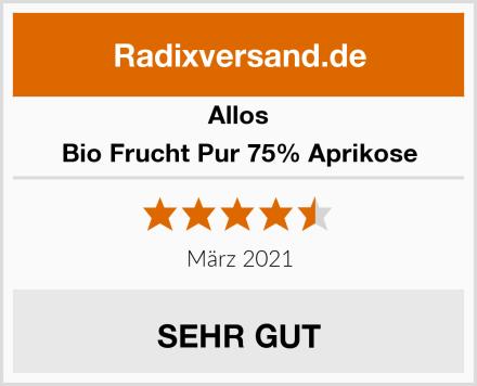 Allos Bio Frucht Pur 75% Aprikose Test