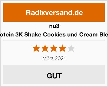 nu3 Protein 3K Shake Cookies und Cream Blend Test