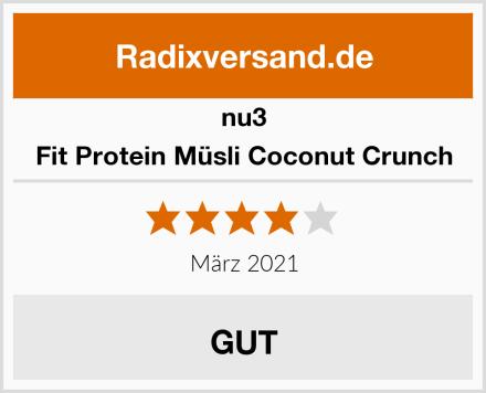 nu3 Fit Protein Müsli Coconut Crunch Test