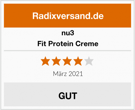 nu3 Fit Protein Creme Test