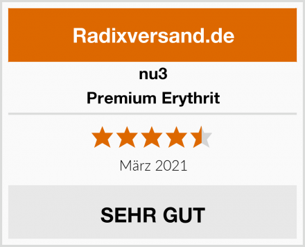 nu3 Premium Erythrit Test