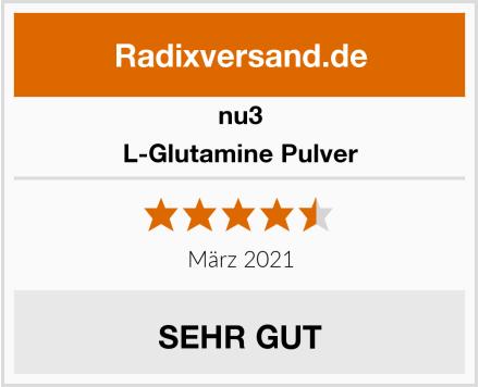 nu3 L-Glutamine Pulver Test