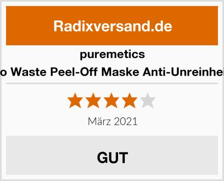 puremetics Zero Waste Peel-Off Maske Anti-Unreinheiten Test