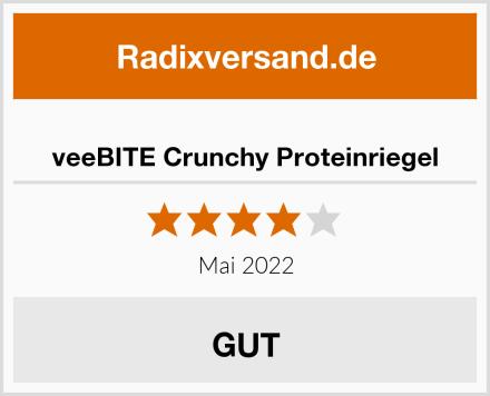 veeBITE Crunchy Proteinriegel Test