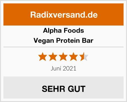 Alpha Foods Vegan Protein Bar Test