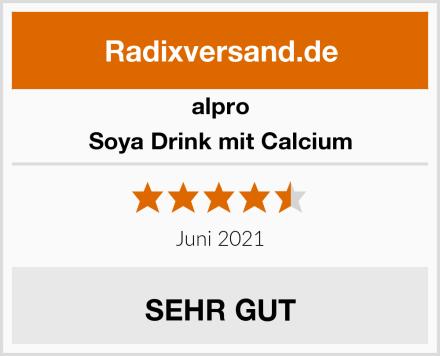 Alpro Soya Drink mit Calcium Test