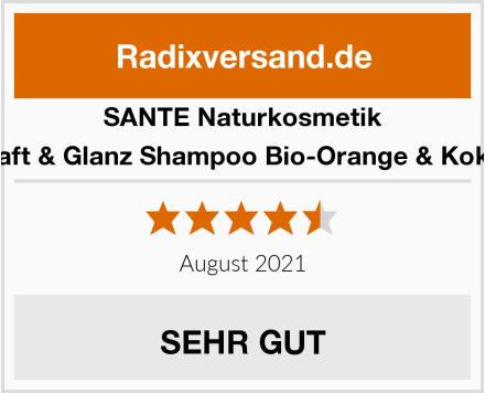 SANTE Naturkosmetik Kraft & Glanz Shampoo Bio-Orange & Kokos Test