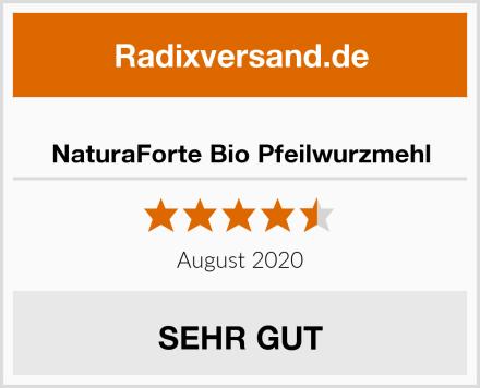 NaturaForte Bio Pfeilwurzmehl Test