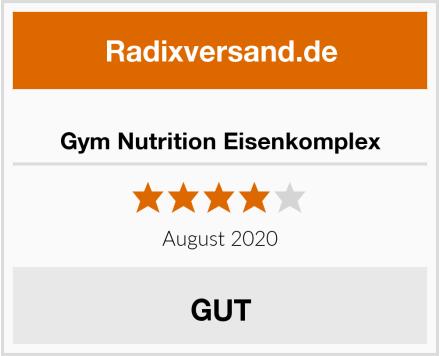Gym Nutrition Eisenkomplex Test