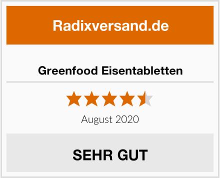 Greenfood Eisentabletten Test
