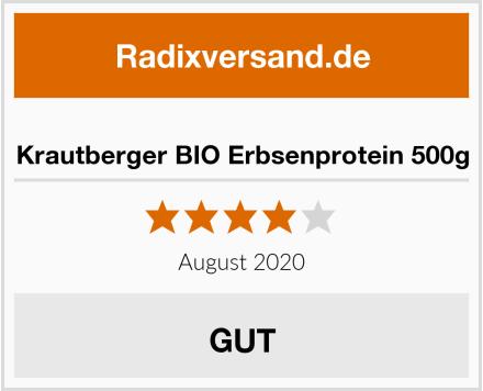 Krautberger BIO Erbsenprotein 500g Test