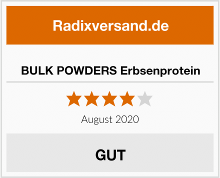 BULK POWDERS Erbsenprotein Test