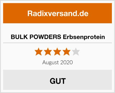 BULK POWDERS Erbsenprotein Test